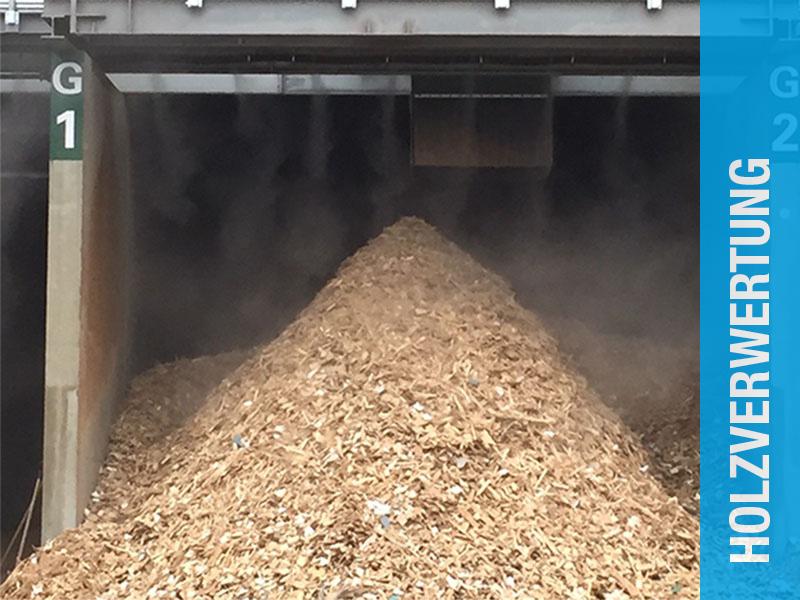 Staubbindeanlage in der Holzverwertung