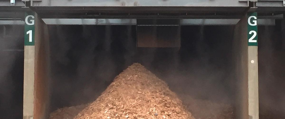 Staubbindemaschine im Bereich Holzverwertung