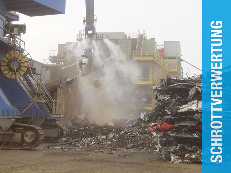 Aquaco Staubbindemaschine – Bereich Schrottverwertung