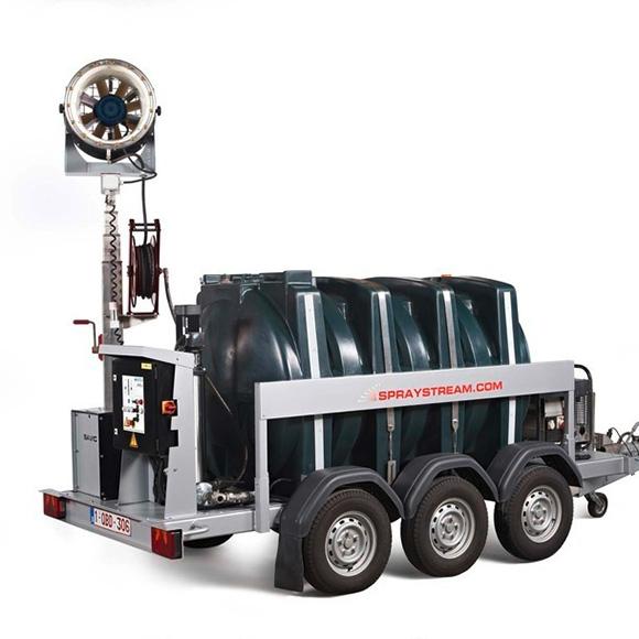 AQUACO Standardlösungen Mobile Staubbindemaschine autark teleskopierbar