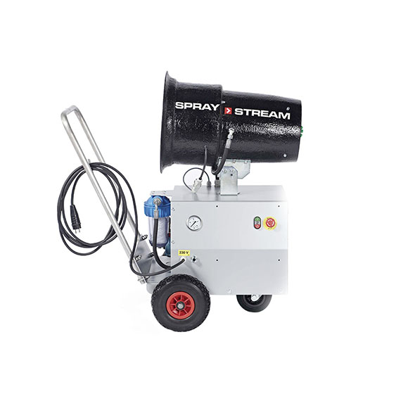AQUACO Standardlösung Staubbindemaschine SPRAYSTREAM 15i Trolley