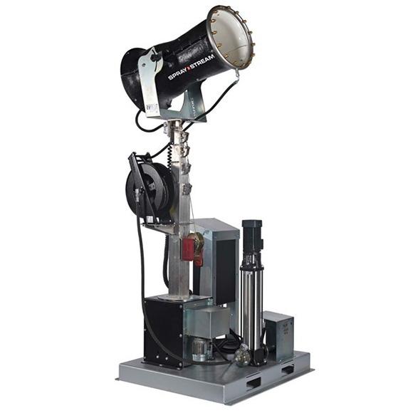 AQUACO Staubbindemaschine Plattform teleskopierbar