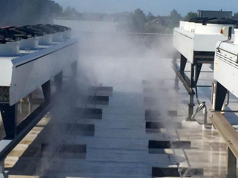 Adiabatische Vorkühlung von Klimaanlagen
