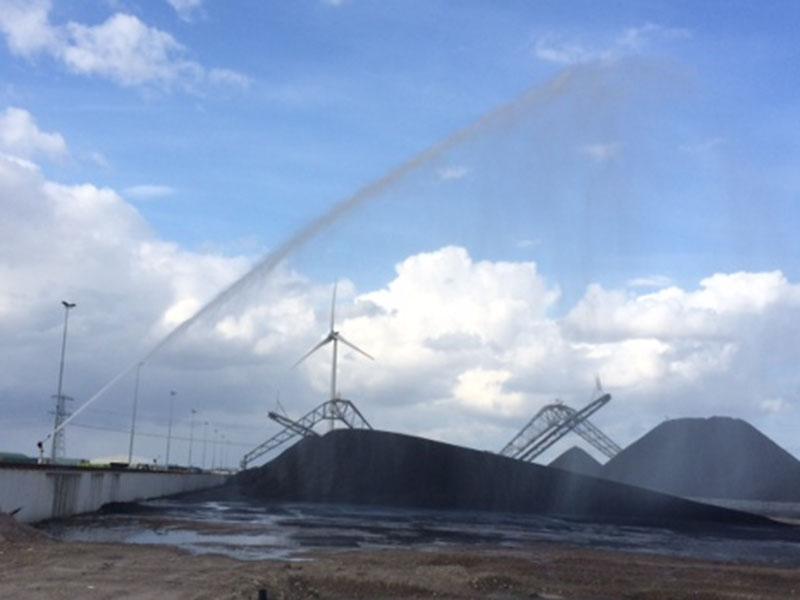 AQUACO Staubbindung auf Kohlehalden