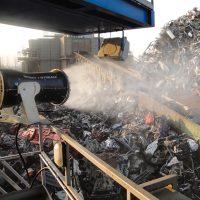 Aquaco Staubbindemaschine – Festinstallierte Lösungen im Schrottbereich