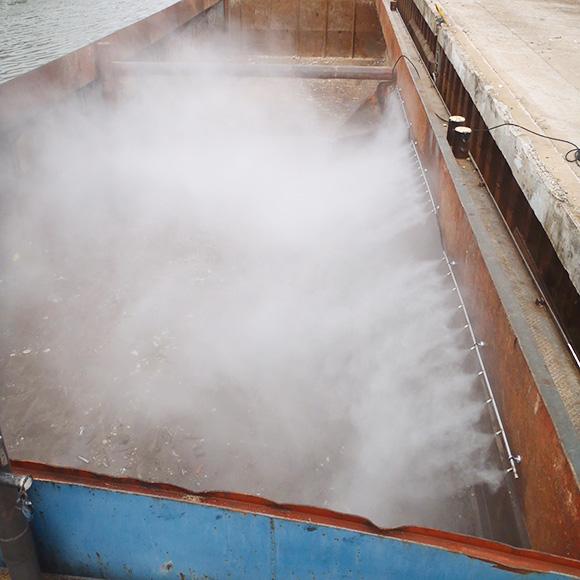 Aquaco Staubbindemaschine – Festinstallierte Lösungen zur Schiffsverladung