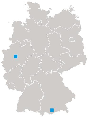 Standorte Aquaco Deutschland