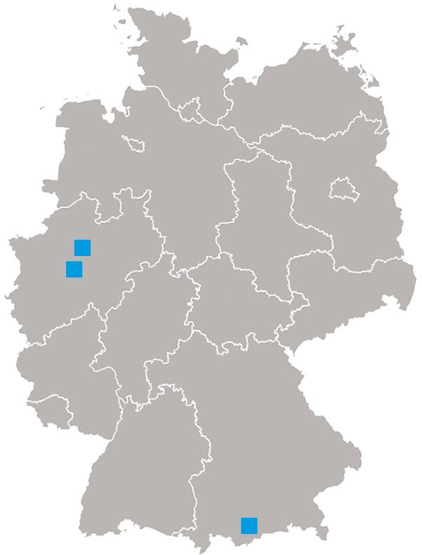 Standorte AQUACO GMBH Deutschland