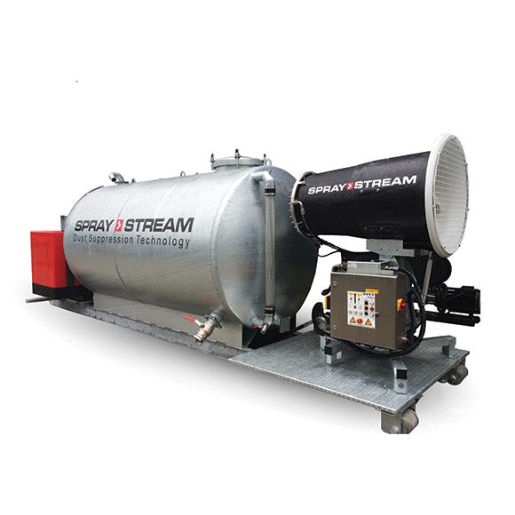SPRAYSTREAM-Staubbindemaschine hakenmobil von AQUACO