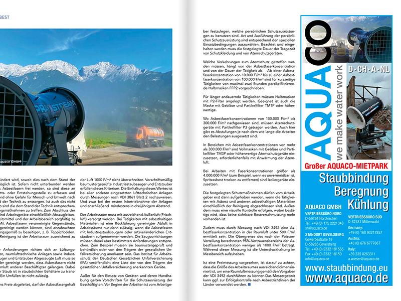 AQUACO Beitrag Magazin Abbruch und Recycling